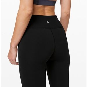 lululemon athletica Pants - Lululemon Wunder Under Black Crop Leggings Size 0